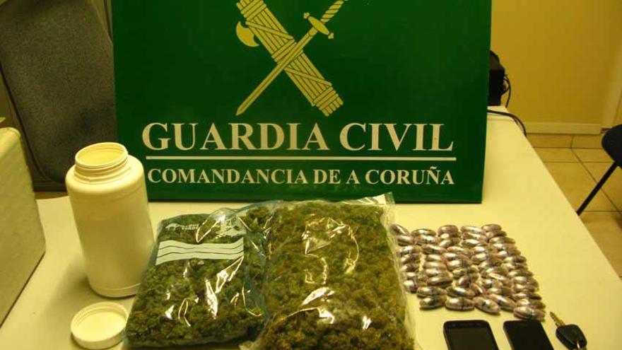 Detenido en Carballo con hachís y marihuana