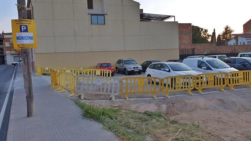 Navarcles posa en servei una  àrea d'aparcament al sector de la carretera de Manresa