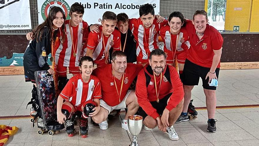 L'Hoquei Girona guanya el títol estatal aleví amb tres figuerencs