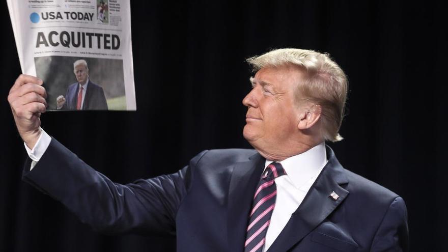 Donald Trump, absuelto en el 'impeachment' por el asalto al Capitolio