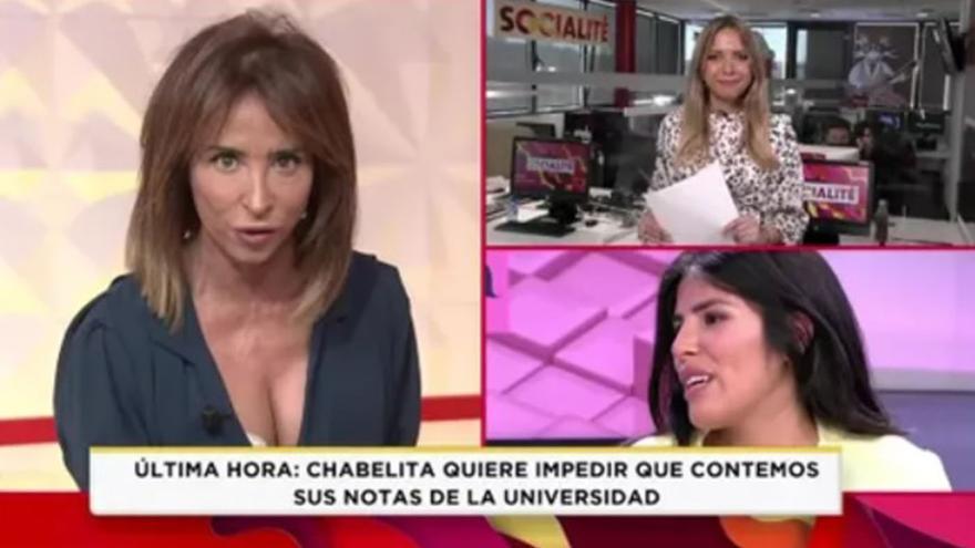 Brutal enfrentamiento en el programa Socialité de Telecinco: María Patiño contra una de sus colaboradoras