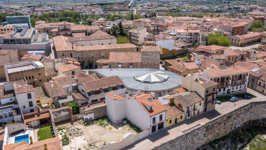 Imagen aérea de la superficie que ocupará el futuro Museo.