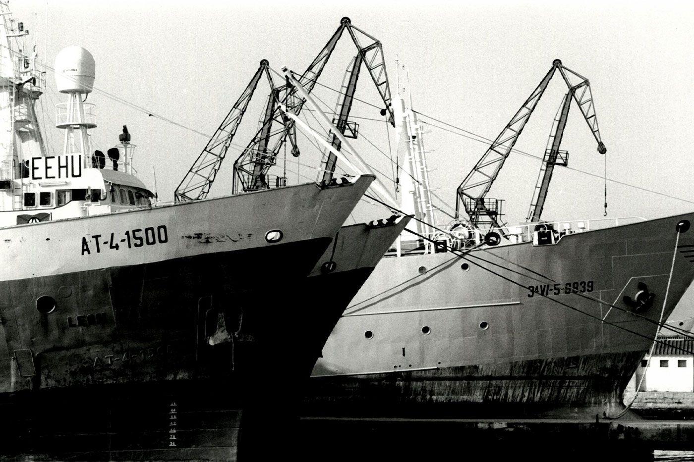 Bacaladeros atracados en el puerto