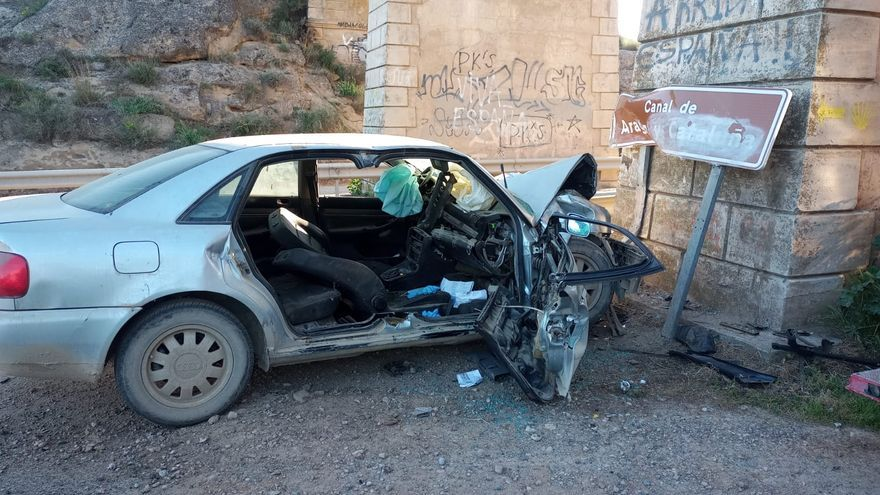 Muere un conductor en el límite de la provincia de Huesca con Lérida