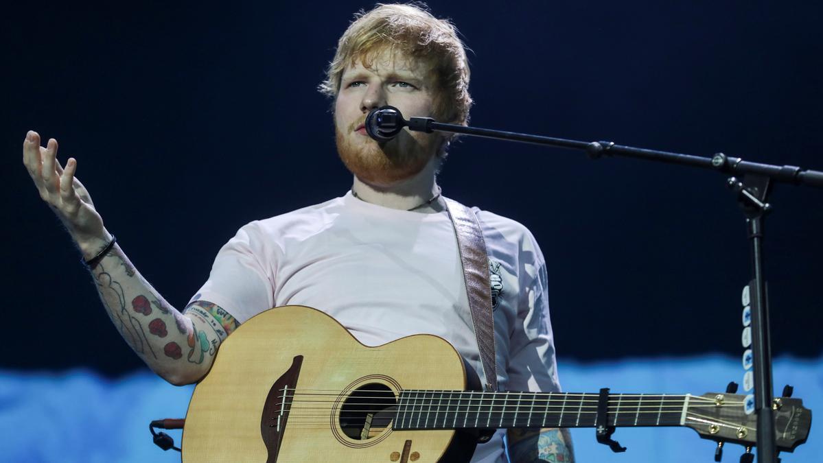 Ed Sheeran, during a concert