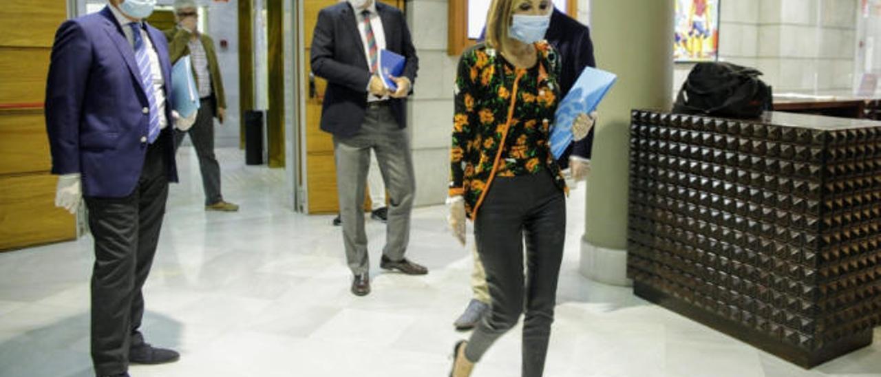 Australia Navarro, ayer en los pasillos del Parlamento de Canarias.