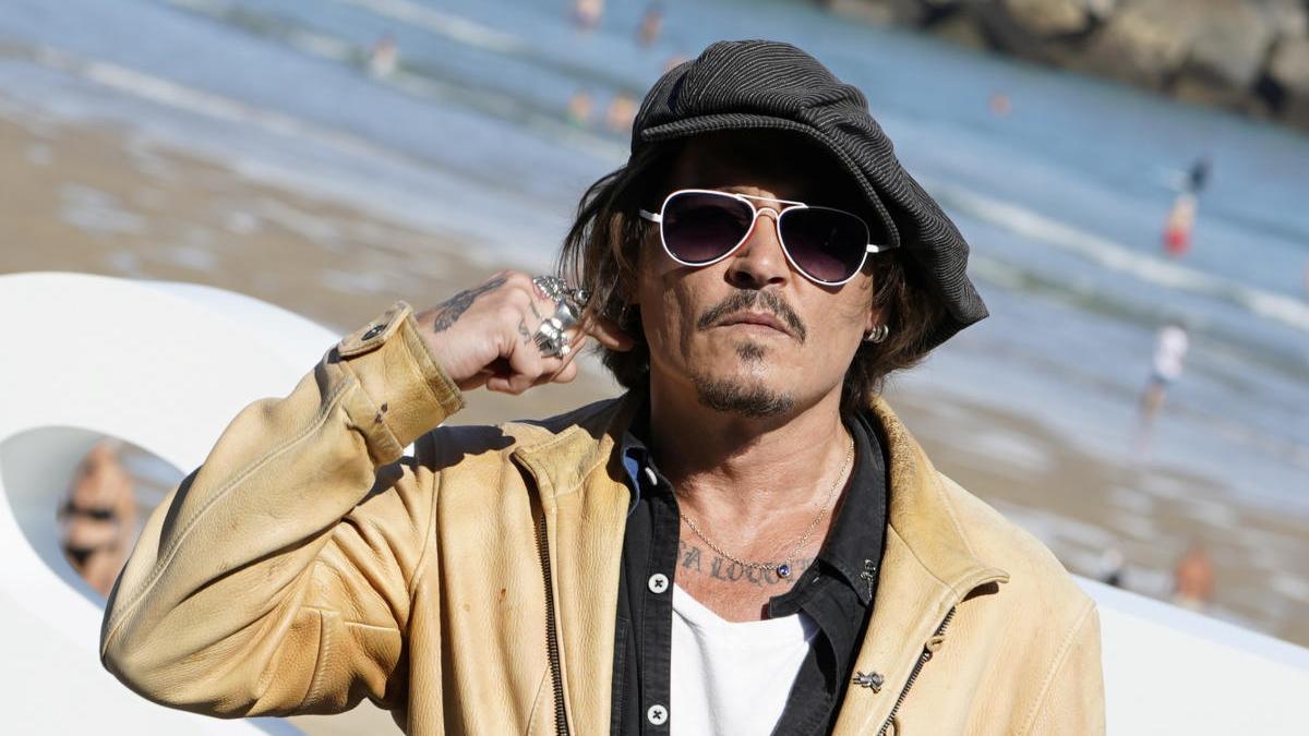 Johnny Depp en San Sebastián.