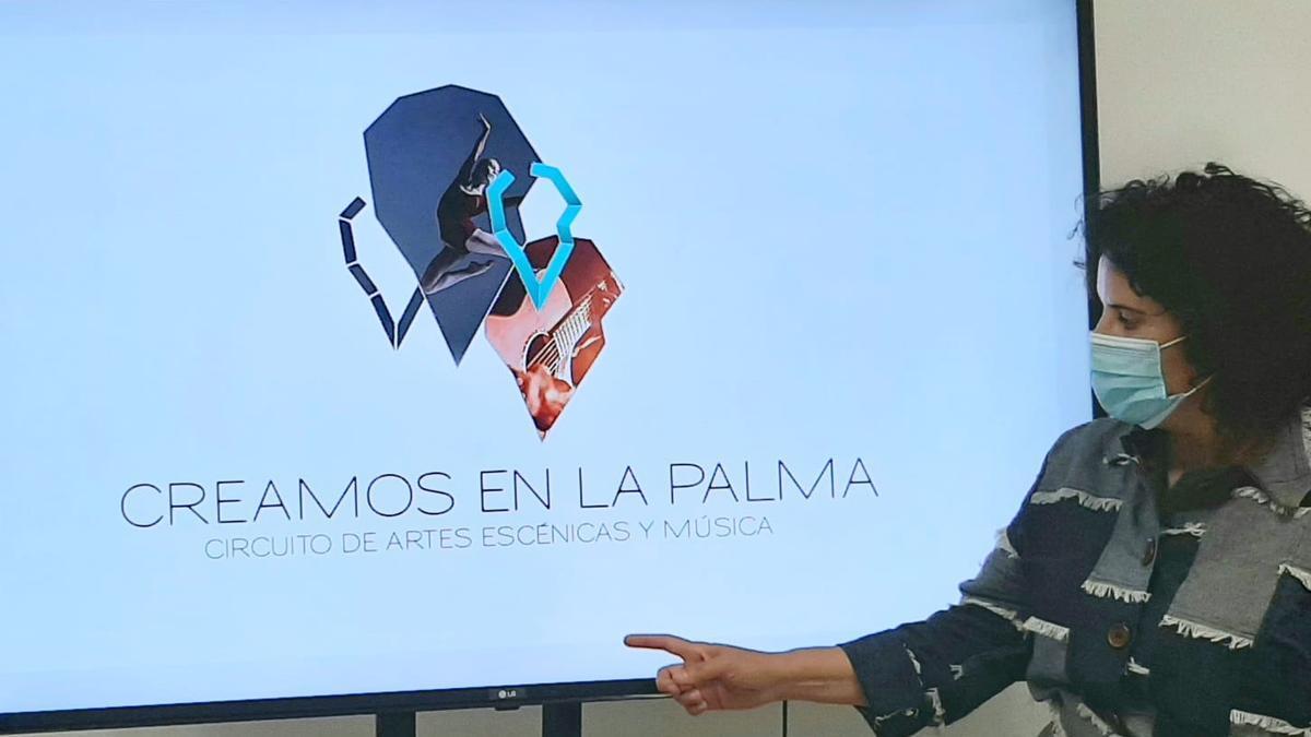 Jovita Monterrey,  consejera de Cultura y Patrimonio del Cabildo de La Palma.