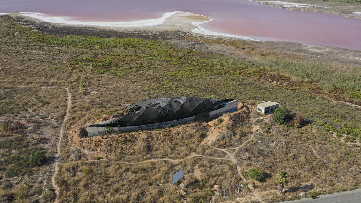 La laguna de Torrevieja recupera el rosa un año después