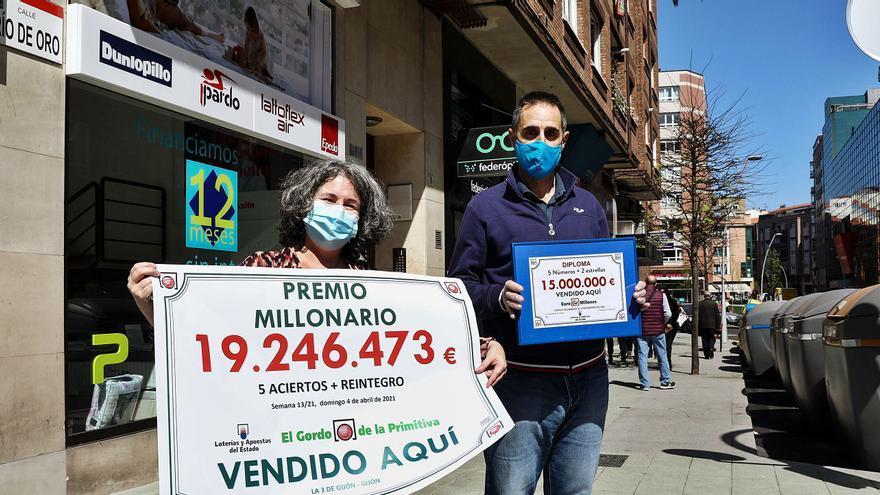 Río de Oro, la calle de la fortuna: dos administraciones reparten en un lustro los dos mayores premios de la historia en Asturias