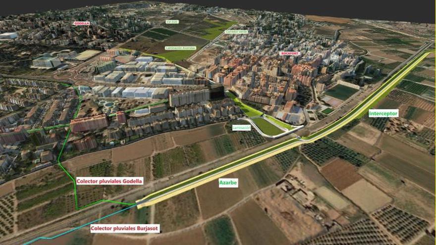 Generalitat diseña otro proyecto para acabar con las inundaciones en Burjassot, Godella y Rocafort
