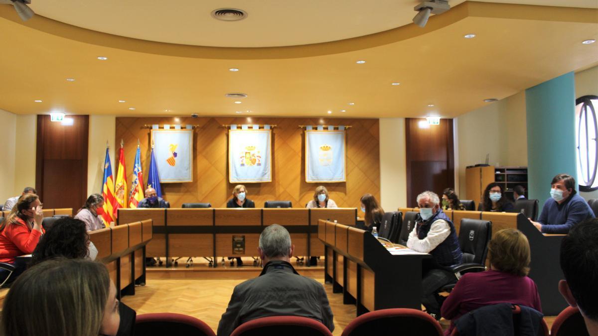 Imagen del pleno celebrado este jueves en Burriana.