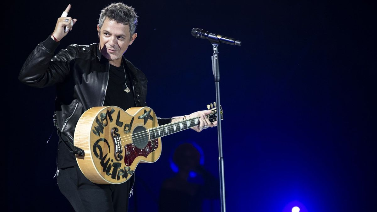 Alejandro Sanz en concierto.