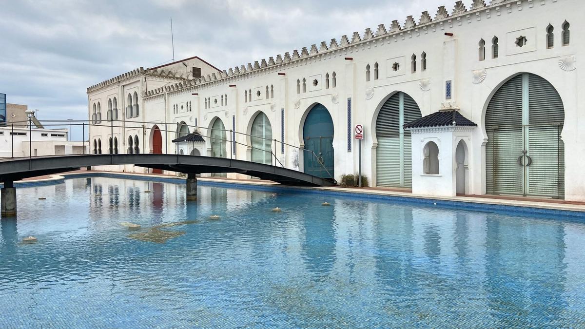 Imagen exterior del edificio moruno del puerto, que albergará la sede de CEV Castellón.