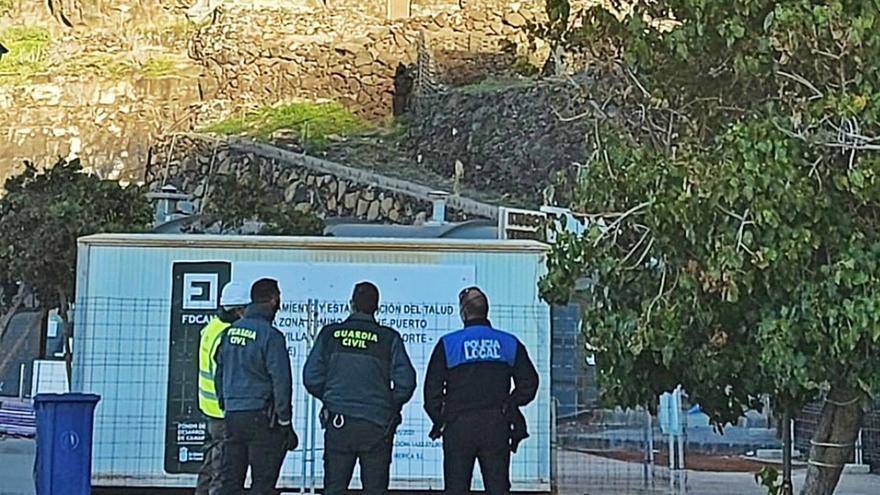 Actos vandálicos retrasan los trabajos de El Time sobre el Puerto de Tazacorte