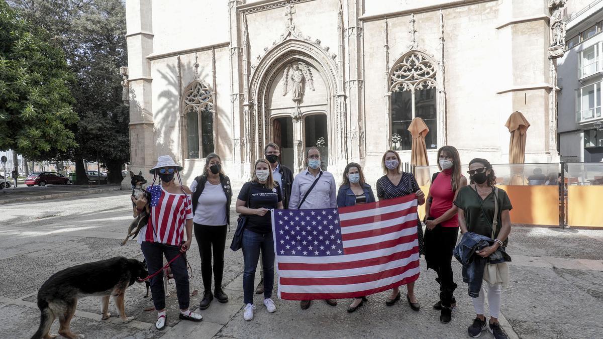 Estadounidenses en Palma dan la bienvenida a Biden