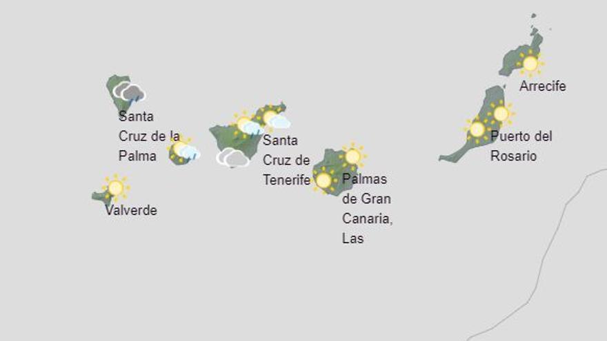 Previsión de tormentas en La Palma este jueves