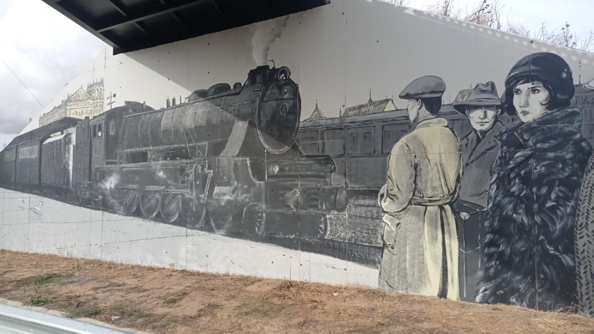 Nuevo mural en Pinilla.