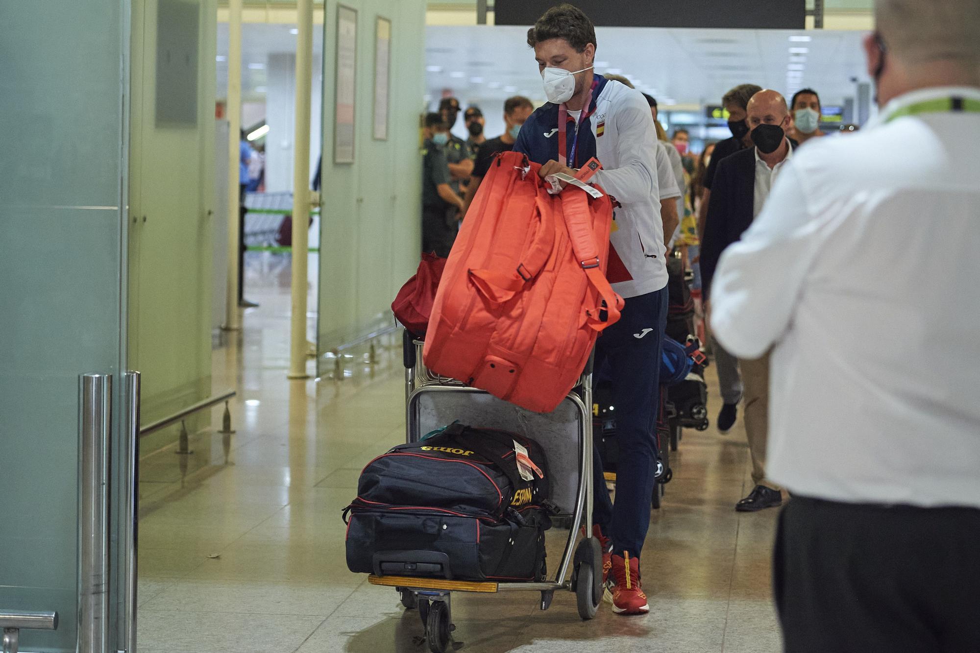 Así fue la llegada a España de Pablo Carreño tras ganar el bronce en Tokio