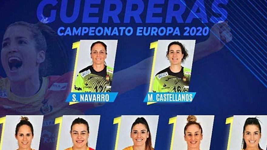Tres 'valencianas' en la lista de las Guerreras