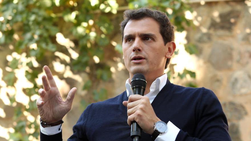 Albert Rivera, durante la campaña electoral.
