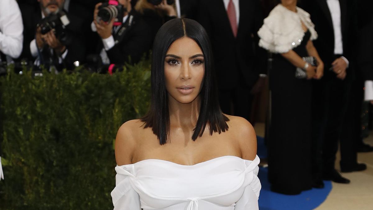 La estrella de la televisión estadounidense Kim Kardashian.