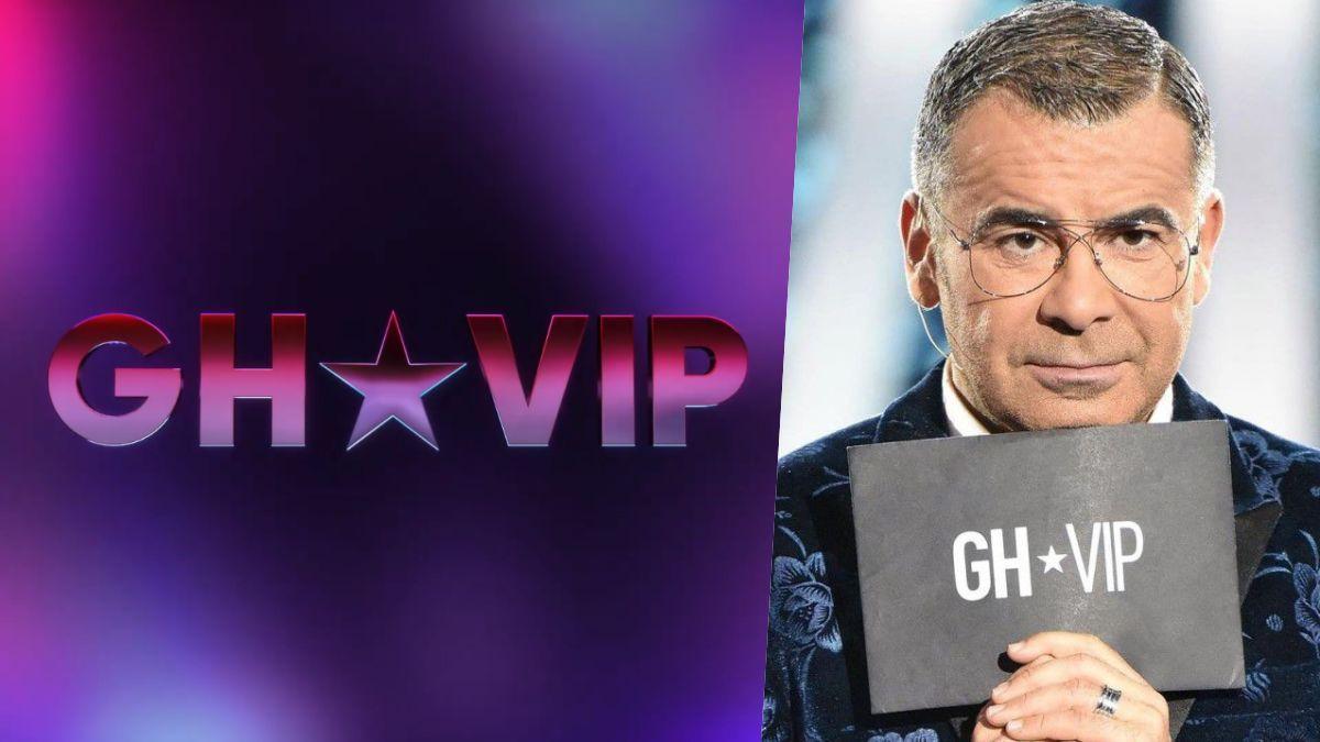 Jorge Javier Vázquez y el nuevo logo de 'GH VIP'.