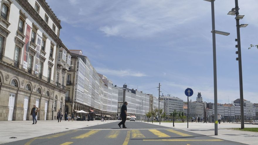 Avenida de la Marina, en A Coruña.