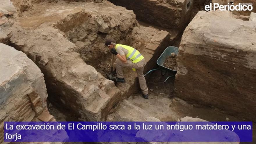 La excavación de El Campillo saca a la luz un antiguo matadero y una forja