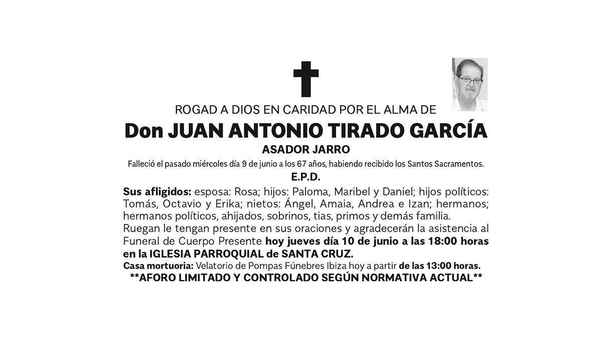 Esquela Juan Antonio Tirado García
