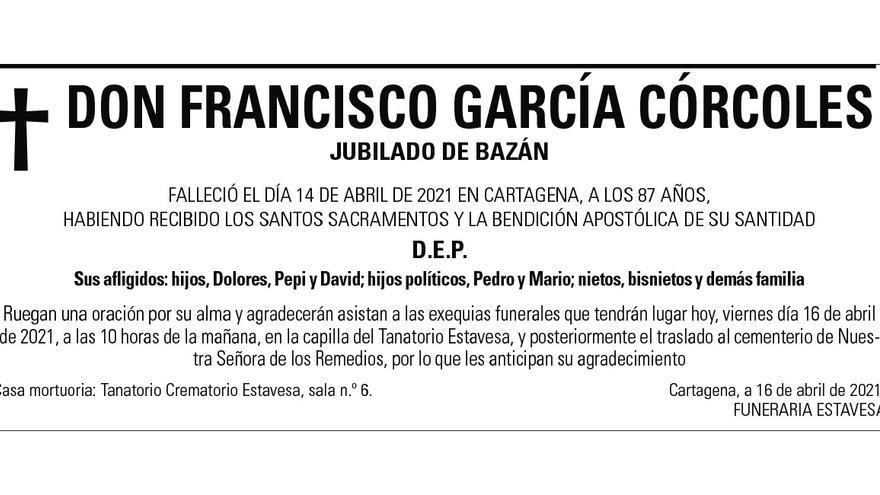 D. Francisco García Córcoles