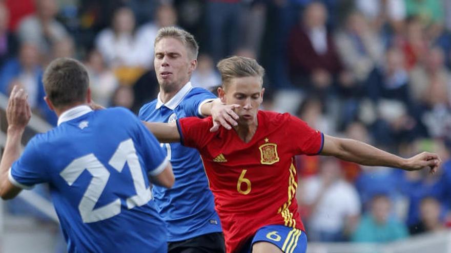 La goleada de la sub'21 no le salva de la repesca para el Europeo