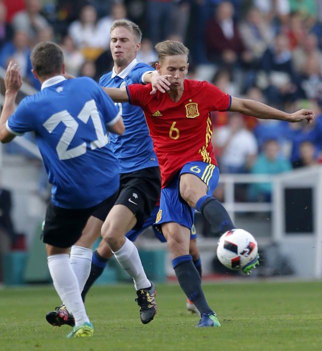 Las mejores imágenes de la victoria de España S21 frente Estonia
