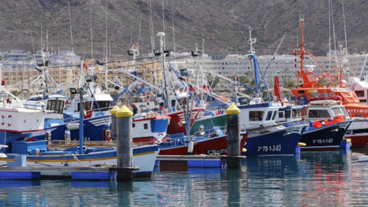 Flota pesquera en las islas.