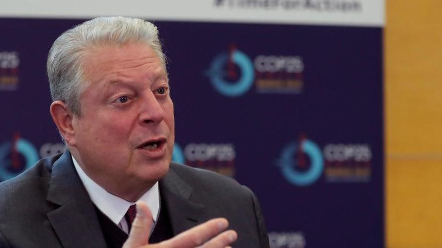 """Al Gore dice que la defensa climática es """"prioritaria"""" para EEUU pese a Trump"""