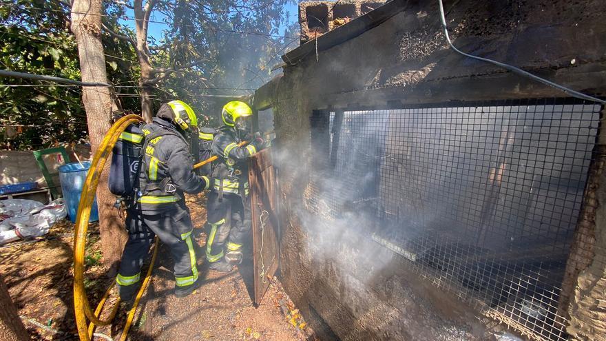 Incendio en una vivienda rural en Gran Canaria