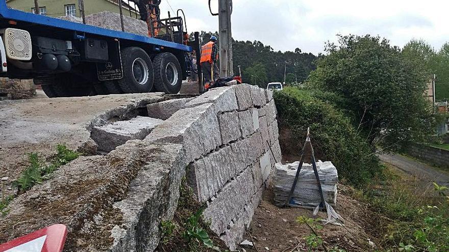 La Diputación mejora la seguridad del vial A Portela-Beluso a su paso por Sanamedio