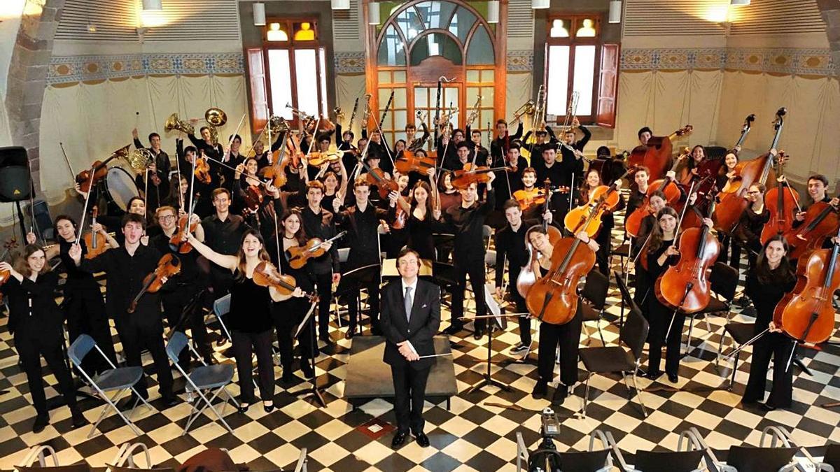 El Jove Projecte Orquestral de Granollers està dirigit per Josep Maria Sauret | ARXIU PARTICULAR