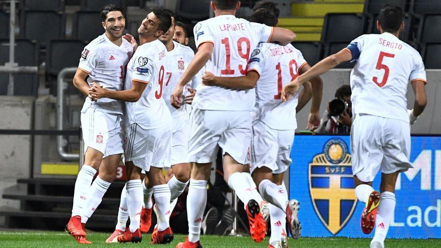 Soler debuta con gol en la derrota de España frente a Suecia