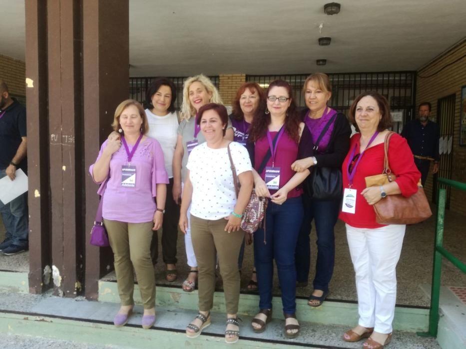 Miembros de la candidatura de Adelante Málaga en Huelin