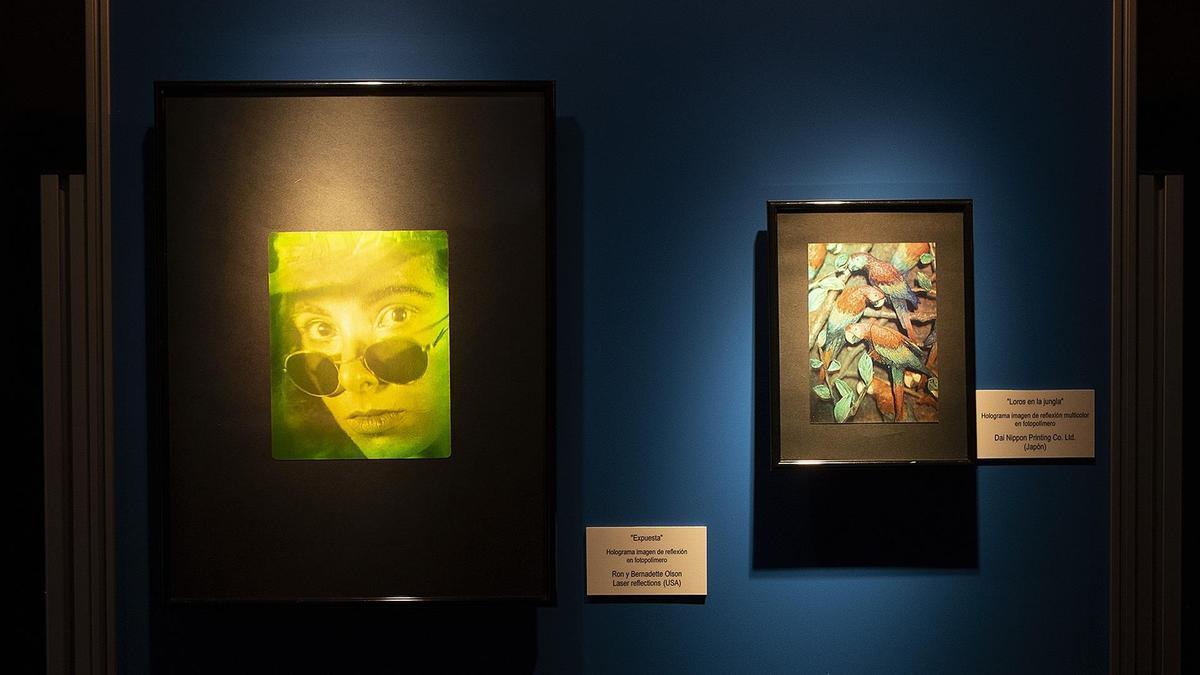 Algunas de las obras de la muestra.