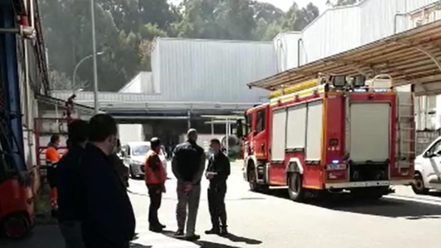 Incendio en el taller de pintura de PSA Vigo