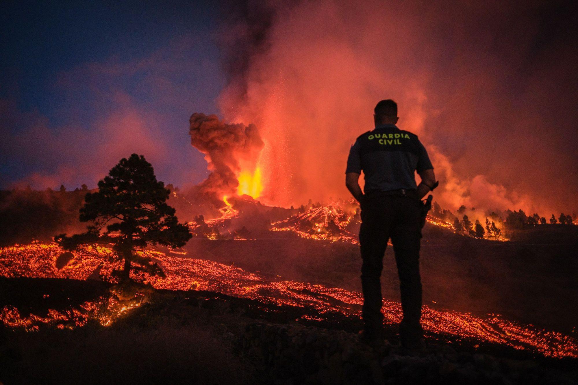Gefährliches Naturschauspiel: Bilder des Vulkanausbruchs von La Palma.