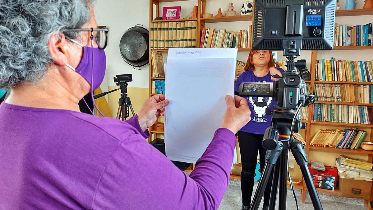Imagen de la realización y grabación de un programa.   L.O
