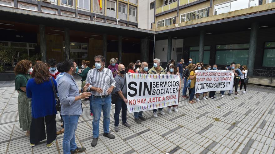 Protesta de los servicios sociales de Ciudad Alta