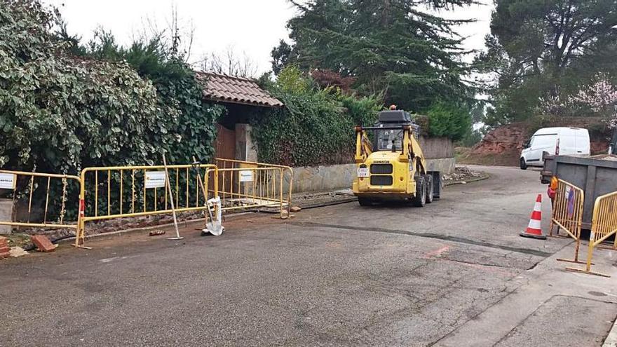 Sant Fruitós fa millores a la xarxa d'aigua potable en carrers de Pineda