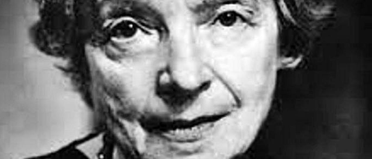 La escritora Nelly Sachs.