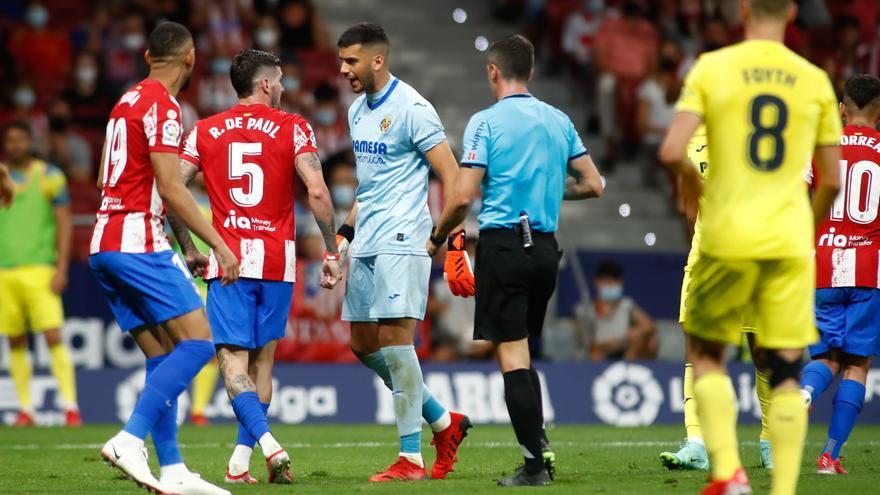 Bronca y discusiones en el vestuario del Wanda tras el Atlético-Villarreal