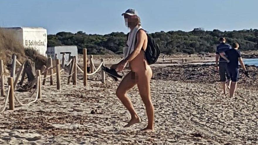 La playa de es Trenc, paraíso de exhibicionistas