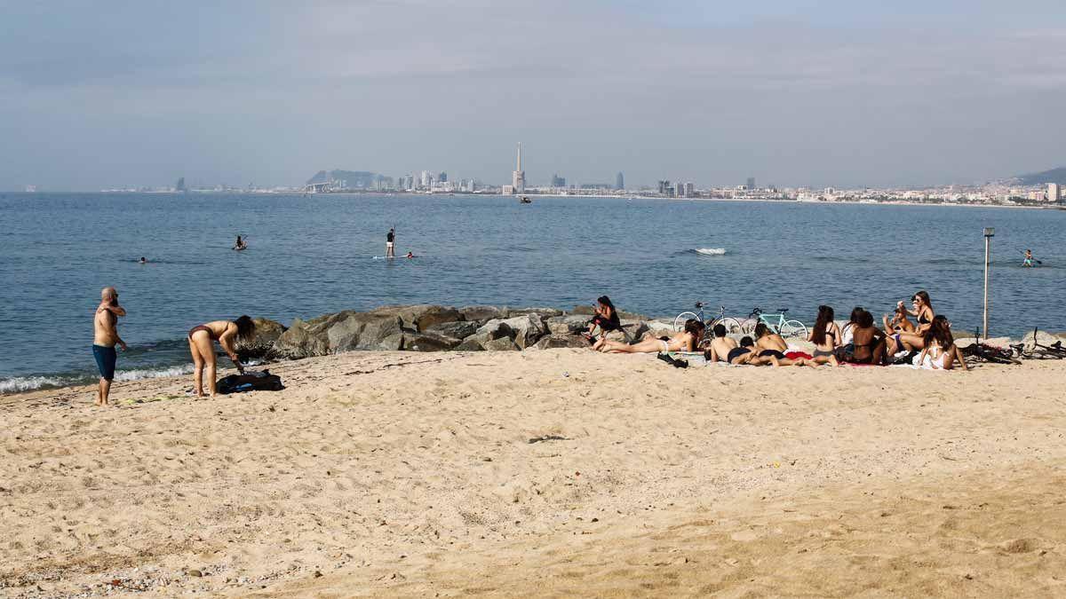 La playa de Masnou, en una imagen del verano pasado.